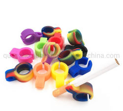 حلقة حامل السجائر المصنعة للمعدات الأصلية Silicone للمدخنين بالإصبع