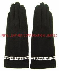 Леди мода шерсть коснитесь Мобильный перчатки (JYG-25053)