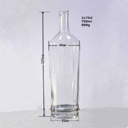 عال واضحة [رووند بوتّل] [750مل] زجاجيّة شراب زجاجات مع فلّين