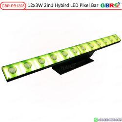 Rbr 12pcs LED 3 W Bar avec des pixels couleur pleine SMD pour toile de fond de la magie de la matrice d'effet de faisceau