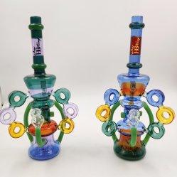 Tubo de cores misturadas Percolator Sprinklers Cigarro Vidro Perc Inline Congeláveis Coil Illadelph Fumar Tubo de água quente a reciclagem de vidro do tubo de água