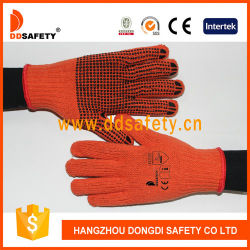 PVC綿の労働者の手袋と編まれる専門家