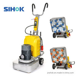 С регулируемой частотой вращения 12 диска на влажной и сухой шлифовки пола бетонной поверхности шлифовального станка (SHCG-600)