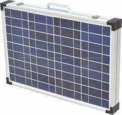 طقم اللوحة الشمسية المحمولة بقدرة 80 واط مع مشبك البطارية للسيارة