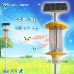 Baodigoldsun Marken-im Freien nachladbarer und elektronischer Solarprogrammfehler Zapper/Insekt-Mörder mit der UVled-Birne angeschalten vom Sonnenkollektor