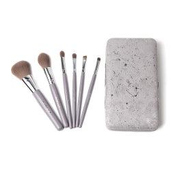 SPAZZOLE da viaggio cosmetiche 6 PZ con confezione in scatola di ferro portatile