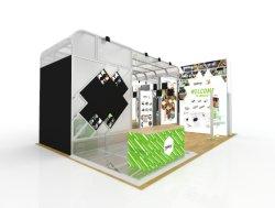 De Handel van Shanghai Expo toont Shell de Cabine van de Tentoonstelling van het Ontwerp en van de Bouw van de Box van de Vertoning van de Cabine van de Regeling
