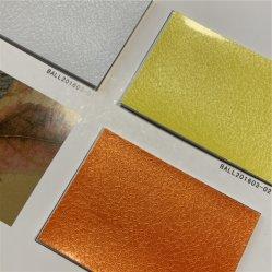 Folha de PU couro sintético da face do espelho de grãos de futebol de alto grau de matérias-primas de futebol