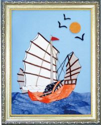 Bricolaje Arte Moderno, el arte de tela pintura, el bastidor de tela Patchwork