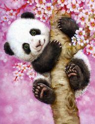 5D de la peinture de diamant de bricolage moindre Panda Xxm001