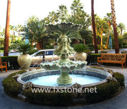 La sculpture fontaine en marbre pour la décoration de jardin