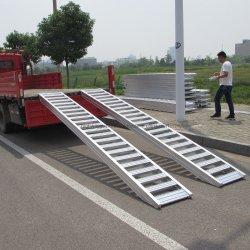 Aluminiumladen-Rampen mit einzelnem seitlichem Rand für Fahrzeuge mit Rädern und Gummi-Spuren