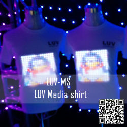 EL flashing T Shirt / El Light T Shirt / El Soft-panel