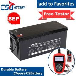 Csbattery 12V 200Ah Valve-Regulated seladas Lead-Acid Bateria para o Solar/Power-Tool/Electric-Scooter/aluguer/Veículo/CSG