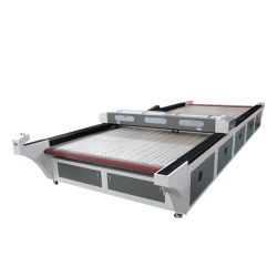führende Ausschnitt-Selbstgravierfräsmaschine Laser-1626 2030 für Kleid-Tuch-Leder-Gewebe-Gewebe 150W