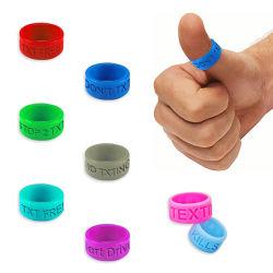 Logo promotionnel gravée de bandes de doigt, anneaux de pouce en silicone