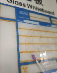 학교, 사무실 강화 유리 쓰기 보드, 유리 패널 달력 화이트 보드