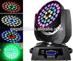 LED 6 في 1 رأس متحرك Rgbwyp، مصباح رأس متحرك LED مع زووم