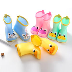 أطفال مطر حذاء أطفال وفتيات طفلة [ميد-Tube] مطر حذاء الأطفال أحذية المياه أحذية مطاطية الأطفال