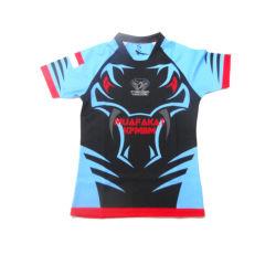 Secado rápido uniforme de deportes Rugby Jersey con impresión personalizada