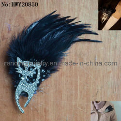 2012 Sexy Cat Feather e Rhinestone Broche (AE20850)