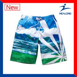 Popular diseño sublime de desgaste de la playa de la Junta de poliéster Mens cortos