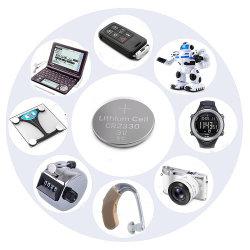 Смотреть литий кнопку таблетка CR2330 3В аккумуляторной батареи