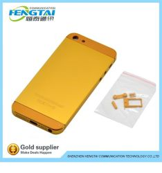 Cellulaire Phone Golden Fone Shell voor iPhone 5 24k de Huisvesting van Gold, voor iPhone 5 de Huisvesting van Back Cover, voor iPhone 5 Huisvesting Repacement