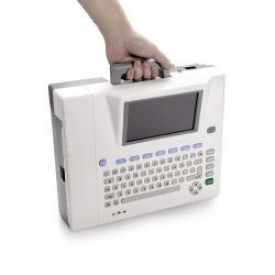 Tragbarer EKG-Gerät Kardioologie Elektrokardiograph EKG 12 Kanal LCD alphanumerisch