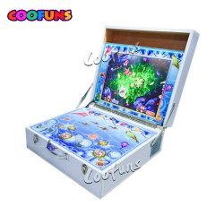 Portable scherzt das Minifischen-Spiel, das 2 die Spieler-Fisch-Jagd-Säulengang-Maschine für Verkauf schießt