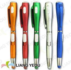 Pen van de multifunctionele Plastic LEIDENE de Lichte Reclame van de Ballpoint Creatieve Veelkleurige, de Pen van de Aanraking van de Naald