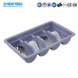 Compartimento de quatro Heavybao Talheres Caixa de armazenamento de plástico forquilha e o cesto da Faca