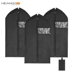 3 pacchetti sacchetto non tessuto del coperchio del panno dell'indumento del cappotto del vestito di corsa di 42 pollici con la casella del pattino