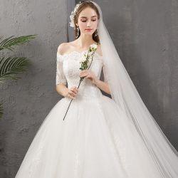 شريط [أبّليقو] مساء ثوب من [شوولدر سترب] [بلّ غون] لأنّ عروس