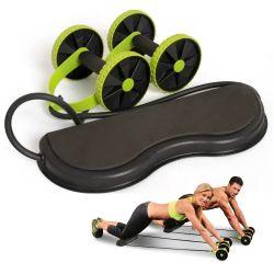 Rullo addominale elastico dello strumento ab della corda di tiro di resistenza di stirata del rullo delle rotelle di ab per l'esercitazione dell'addestratore del muscolo addominale