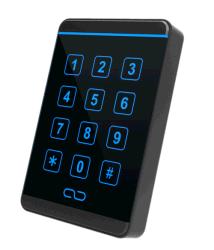 Нажмите на клавиатуре считывателя бесконтактных карт для управления системой безопасности