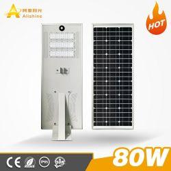 80W LED太陽動力を与えられたPIRの動きセンサーの機密保護の太陽庭の街灯(SSL-AL-CH80)