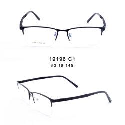Готов к работе на складе классический Semi-Rimless квадратных металла оптического эффекта красных глаз очки рамы