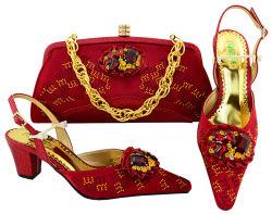 Совместите отверстия под продажу обувь и сумки элегантная обувь и сумка итальянской совпадающих обувь и сумки для дам