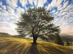 100% pintado a mano árbol paisaje Pintura al óleo para decoración del hogar