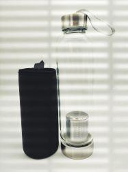 De vidro borossilicato Vidro Chá garrafa de água Infuser 550ml com Luva