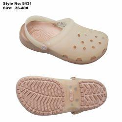 Funky Pink EVA Jelly Woman Sandals Clogs met PVC bovenwerk