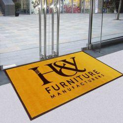 Il pavimento di superficie di nylon stampato abitudine variopinta della gomma di nitrile di marchio copre la stuoia col tappeto