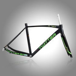 700c el aluminio Bicicletas de carreras el bastidor con horquilla de carbono