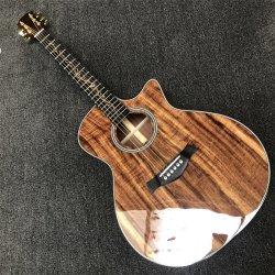 Vue en coupe de bois de Koa K24ce Chaylor personnalisée en usine de guitare acoustique 41 pouces B bande Une11 K24 du ramasseur de la livraison gratuite de guitare électrique