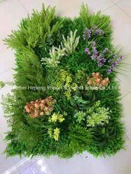 両掛けは屋外の庭の装飾、人工花、プラントのための緑の壁パネルを植える