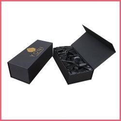 Luxe aimant un emballage cadeau boîte noire pour les hommes sexy jouets Fabricant Usine fournisseur