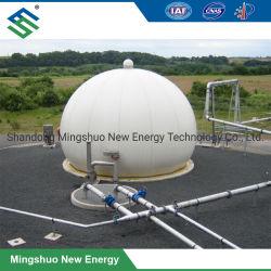 Support de stockage de gaz double membrane pour le projet de biogaz
