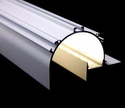 2018 Nuevo LED paneles de yeso el yeso de aluminio Perfil de extrusión con cubierta de PC