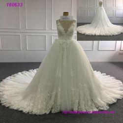 Bling 결혼식 무도회복 에이라인 레이스 Tulle 신부 복장 2018년